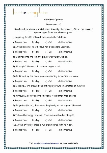 Preposition Worksheets Middle School Adverbs and Prepositions Worksheets
