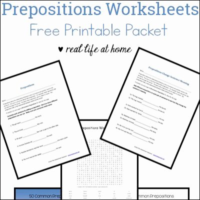 Preposition Worksheets Middle School Language Arts Archives Real Life at Home