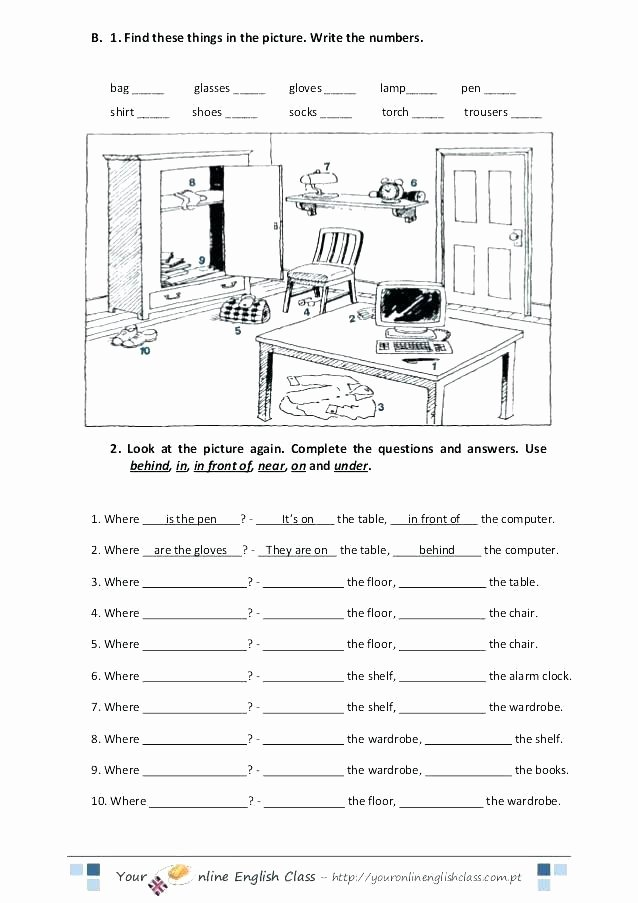 Preposition Worksheets Middle School Preposition Worksheets for Kindergarten Prepositions
