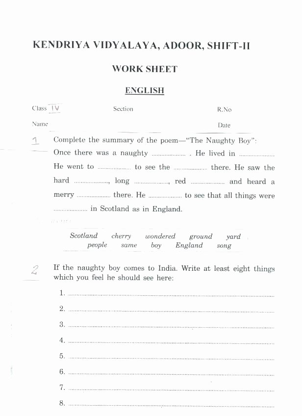 Prepositional Phrase Worksheet 4th Grade Fragment Worksheets 4th Grade Grade Sentence Fragments