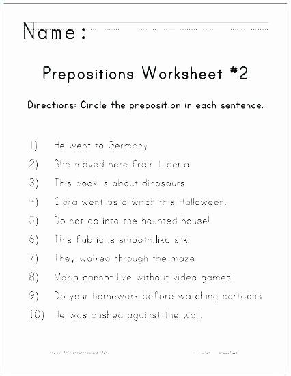 Prepositional Phrases Worksheet 6th Grade Worksheets Adverbs Worksheet Grade 2 Practice Diagramming