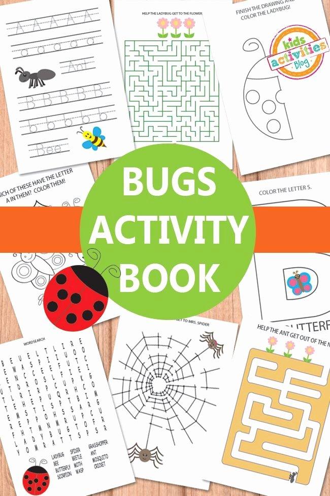 Preschool Bug Worksheets Bugs Activity Sheets Free Kids Printable Printables