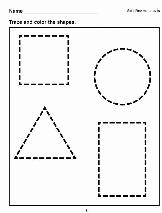 Preschool Diamond Shape Worksheets Cut and Paste Shapes Worksheets Geometric Free to Print