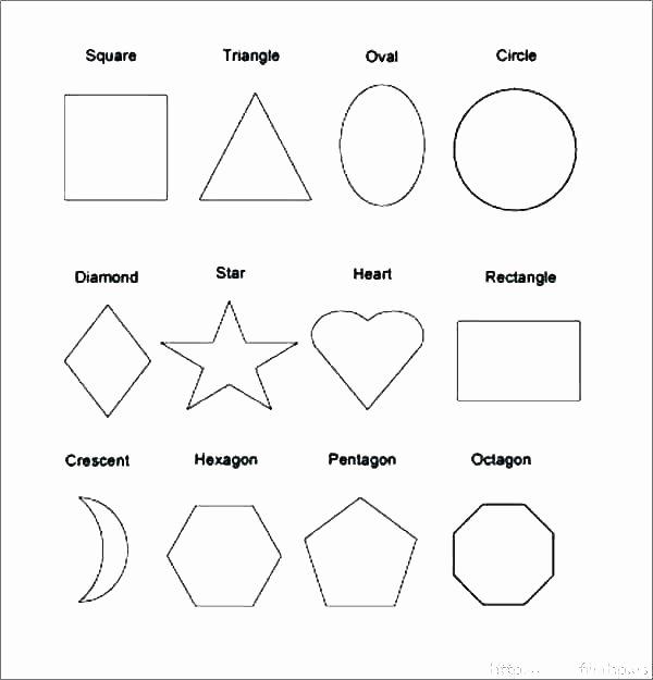 Preschool Diamond Shape Worksheets Preschool Worksheets Shapes and Sizes