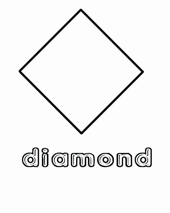 Preschool Diamond Shape Worksheets Shapes Coloring Sheets for Preschoolers – Psubarstool
