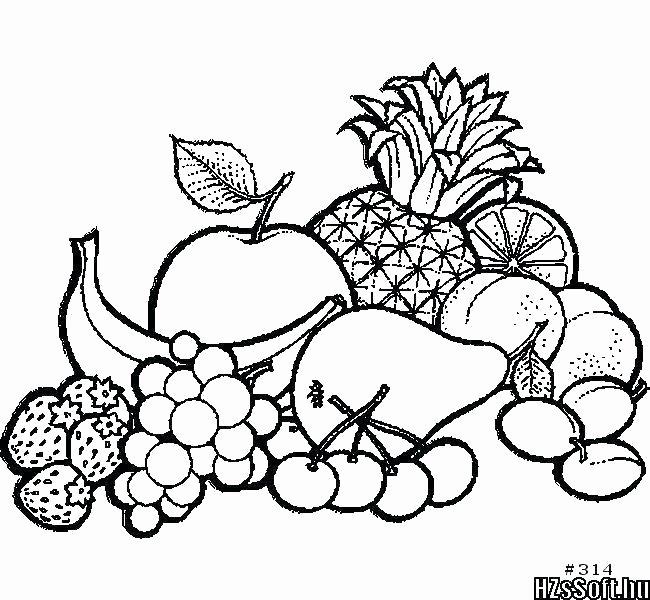Preschool Fruits and Vegetables Worksheets Drawing Of Fruit Basket for Kids – Caroban Ukusfo