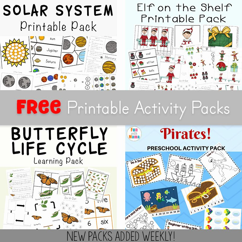 Preschool Fruits and Vegetables Worksheets Free Printable Packs Fun with Mama