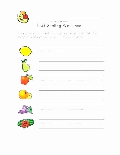Preschool Fruits and Vegetables Worksheets Fruit Worksheets for High School Nutrition Preschool Simple