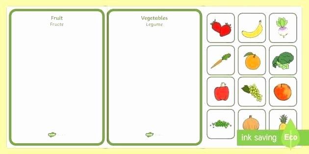 Preschool Fruits and Vegetables Worksheets Fruit Worksheets for High School