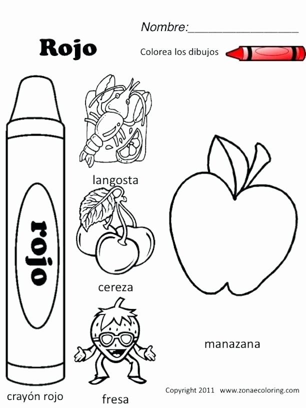 Preschool Fruits and Vegetables Worksheets Preschool Spanish Worksheets Coloring Pages Preschool