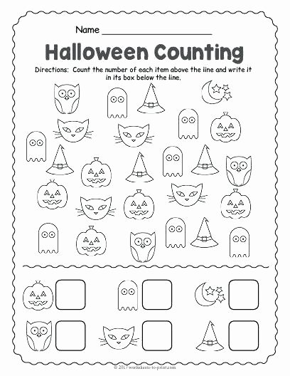 free printable counting worksheet worksheets halloween fun for pre k