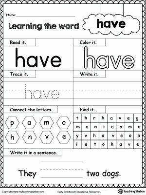 Preschool Halloween Worksheets Free High Frequency Word Have Printable Worksheet Numbers