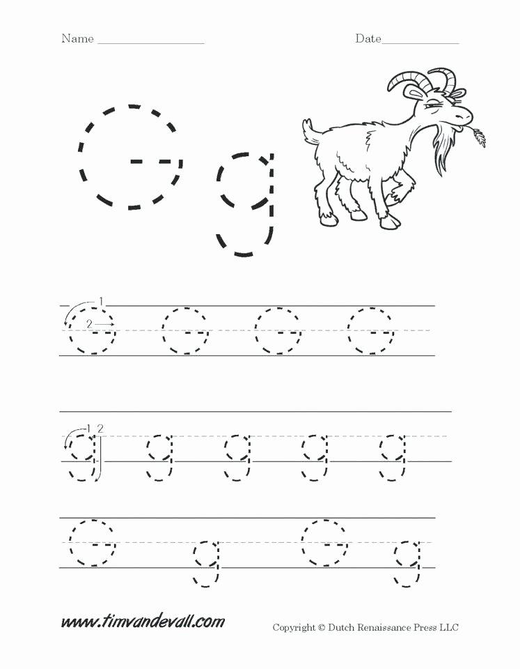 Preschool Letter G Worksheets Alphabet Worksheets for Pre K