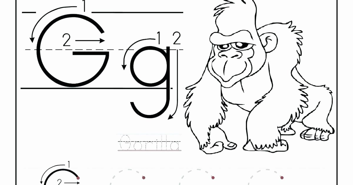 Preschool Letter G Worksheets Free Letter G Worksheets for Kindergarten Worksheet Tracing
