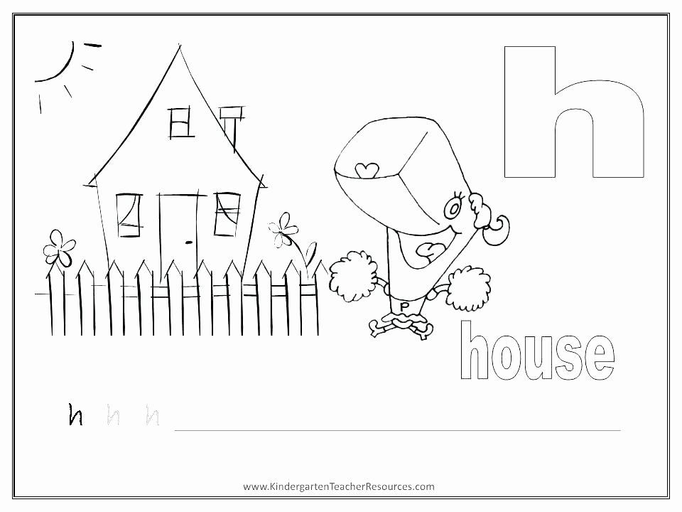 Preschool Letter H Worksheets Letter H Worksheets for Preschool
