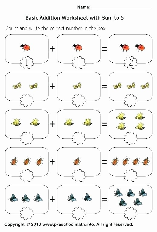 Preschool Math Worksheets Pdf Free Simple Math Rksheets for Kindergarten Printable