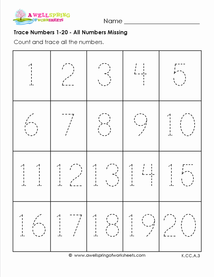 Preschool Number Tracing Awesome Worksheet Ideas Number Tracing 5 astonishing Preschool