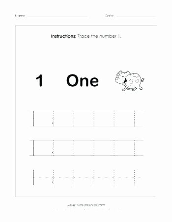Preschool Number Tracing Luxury Free Printable Number Tracing Worksheets