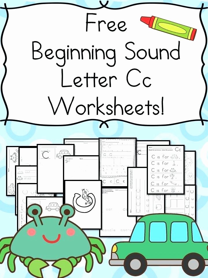 Preschool Opposite Worksheet Beginning sounds Letter C Worksheets Free and Fun Preschool