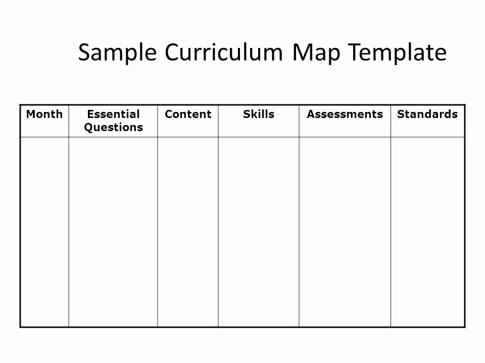 Preschool Palace Curriculum Elegant Plete Collection Blank Curriculum Template Map