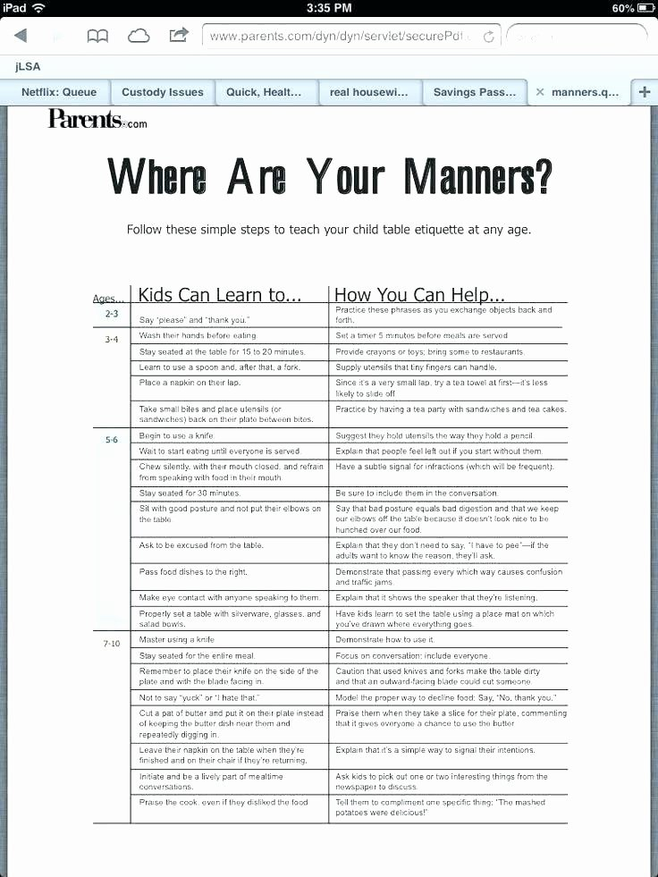 Preschool Palace Curriculum Unique Table Manners for Kids Home Design Games Steam Worksheets