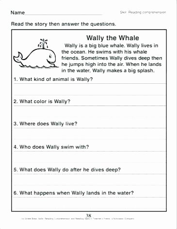 Preschool Reading Comprehension Worksheets Beginning Reading Prehension Worksheets Simple Spanish