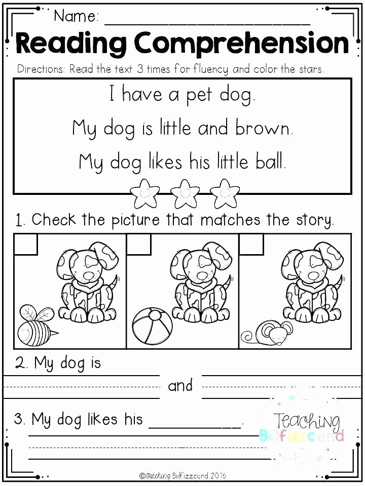 Preschool Reading Comprehension Worksheets Free Printable Fairy Tales and Reading Prehension