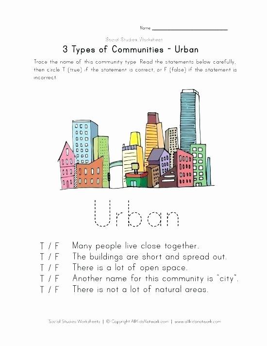 Preschool social Studies Worksheets Free Munity Worksheets Urban Worksheet Printable Helpers