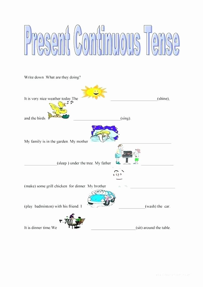 Present Progressive Spanish Worksheet Answers Best Of Spanish for Beginners Worksheets Learning Free Contractions