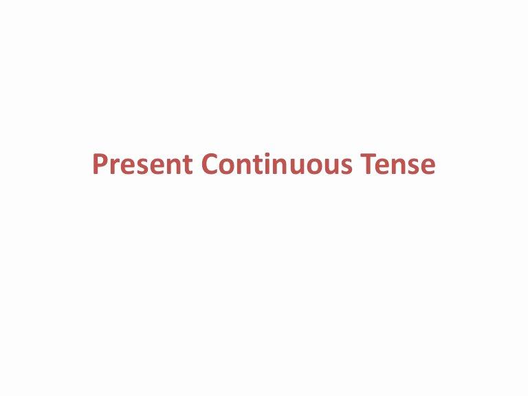 Present Progressive Spanish Worksheet Present Continuous Tense