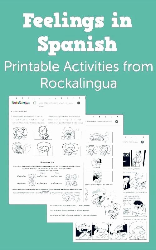 Present Progressive Worksheet Spanish Worksheets for Elementary Students