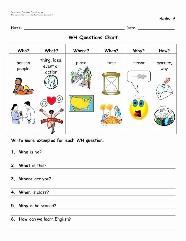 Present Progressive Worksheets 5 Wh Questions Worksheets