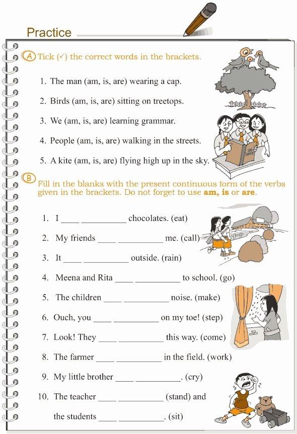 Present Progressive Worksheets Anne Dunlap Freckles212 On Pinterest