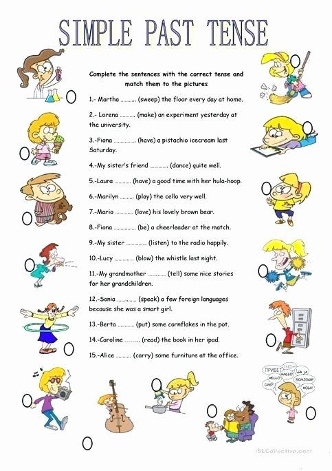 Present Progressive Worksheets Past Tense Present Future Exercises Verb Tenses Perfect