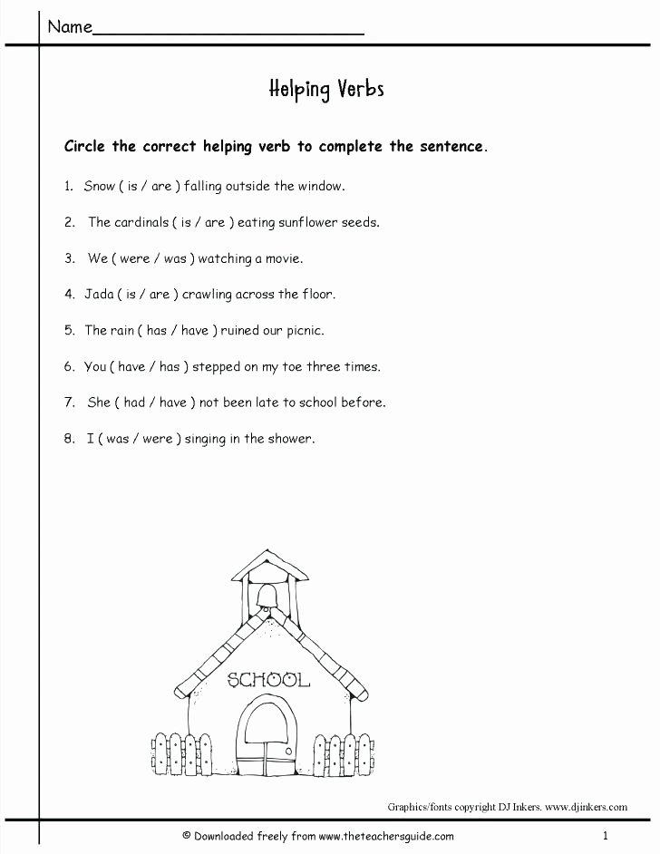 Principal Parts Of Verbs Worksheets Beautiful Auxiliary Helping Verb Use Quiz Linking Verbs Worksheet Main