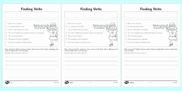 Principal Parts Of Verbs Worksheets New Action Verb Practice Worksheets Verb Sentence Worksheets