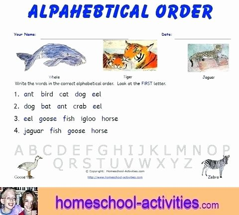 Printable Abc order Worksheets Abc order Worksheets Kindergarten