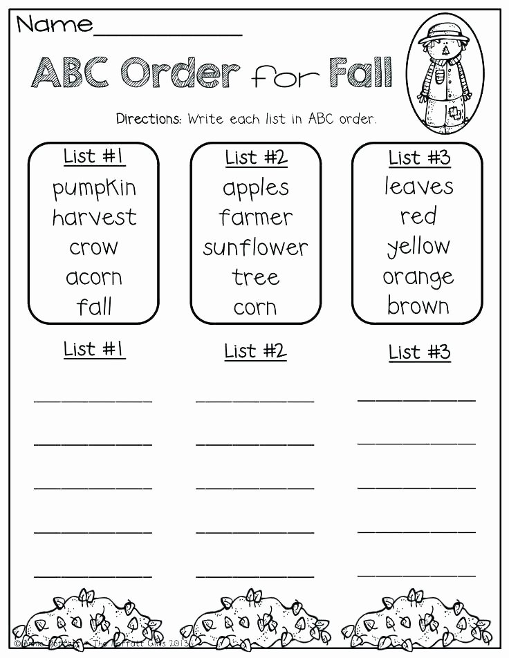 Printable Abc order Worksheets Free Printable School Worksheets for 3rd Graders Index Grade