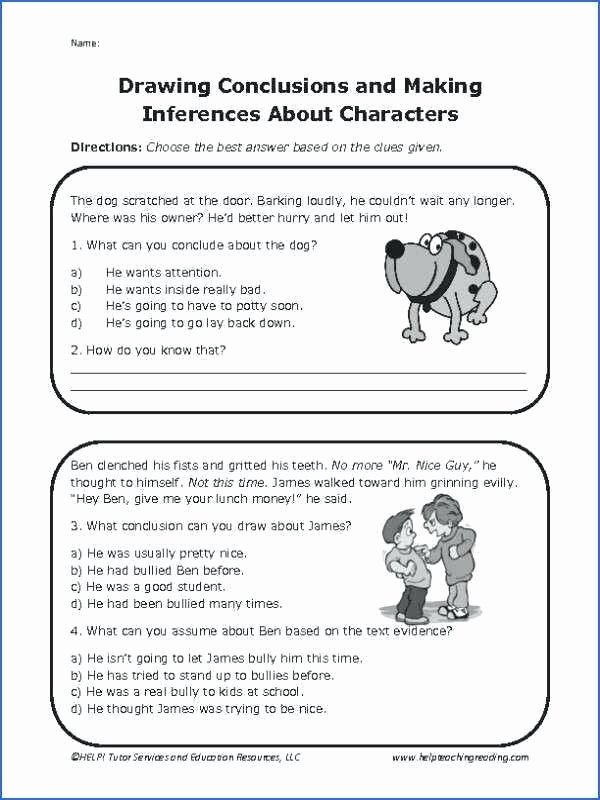 Printable Bullying Worksheets Service Dog Worksheets