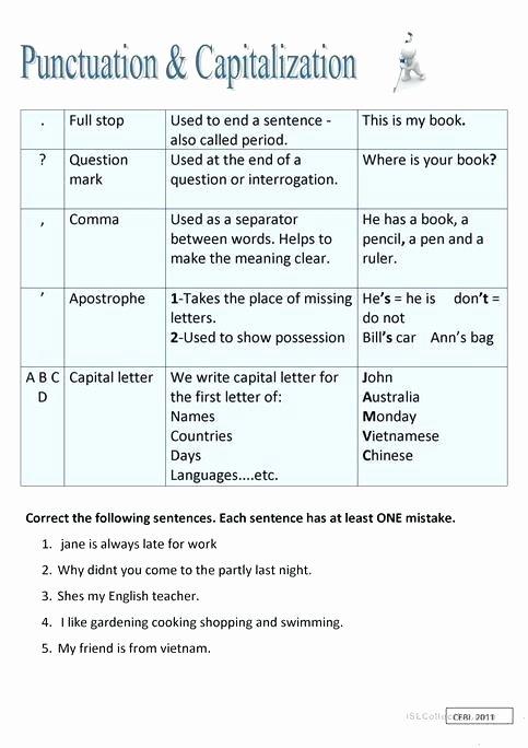 Printable Capitalization Worksheets Capital Letter Worksheets First Grade – Math Worksheets