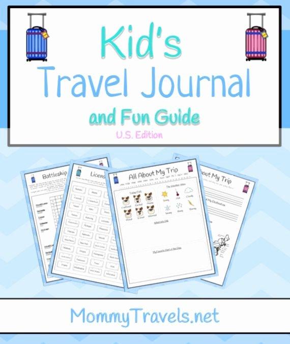 Printable Computer Worksheets Printable Travel Journal for Kids Travel