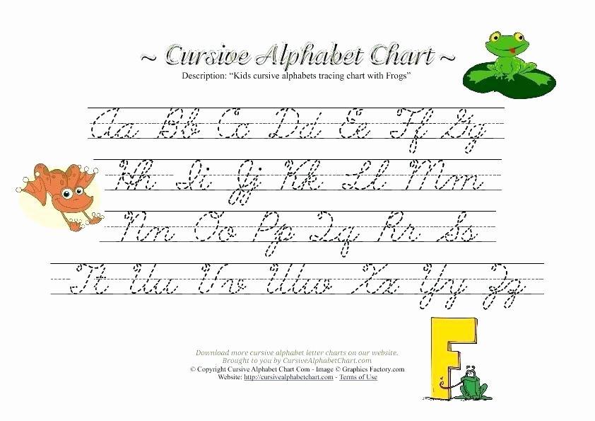 Printable Cursive Alphabet Chart Cursive Alphabet Tracing Worksheets – Slaterengineering