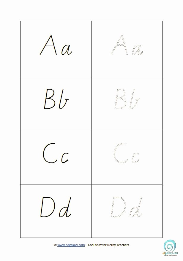 Printable Cursive Alphabet Chart Free Cursive Letters Template to and Print