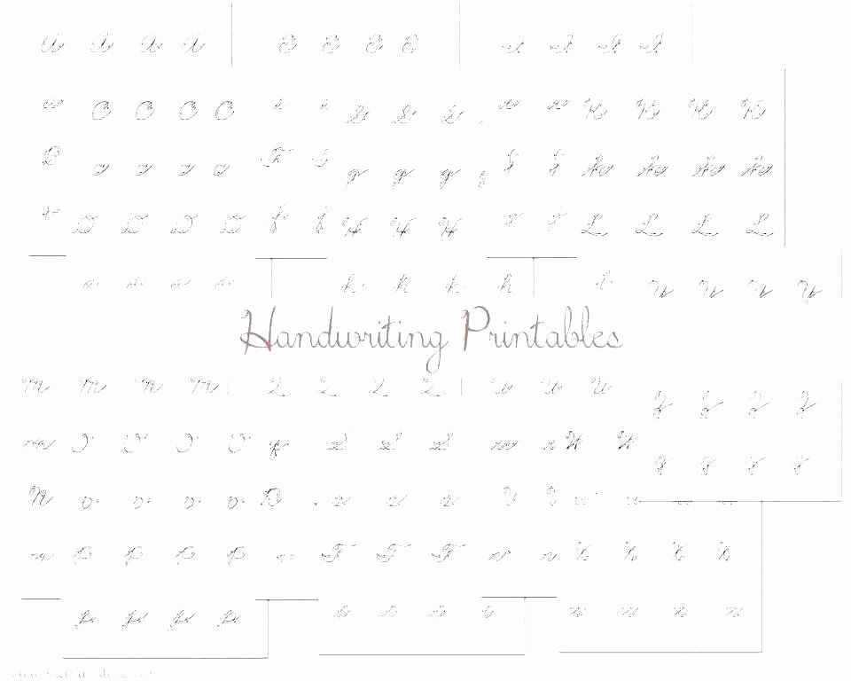 Printable Cursive Writing Worksheets Pdf Free Blank Handwriting Worksheets
