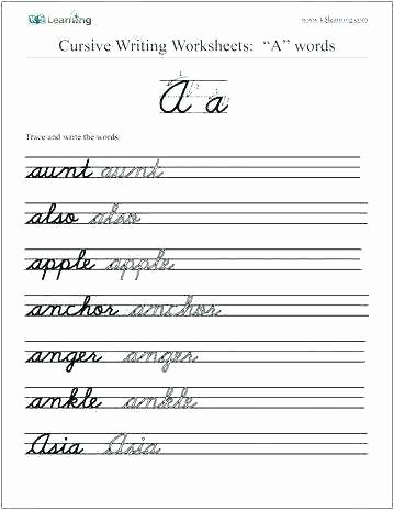 Printable Cursive Writing Worksheets Pdf Learn Cursive Handwriting Worksheets – butterbeebetty