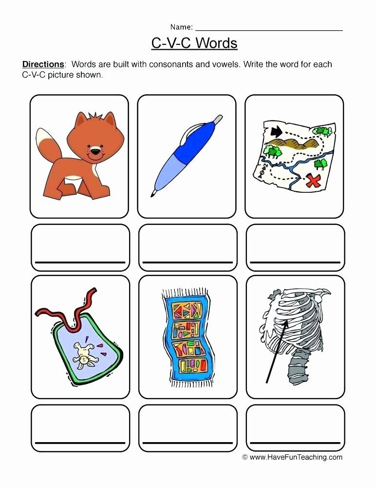 Printable Cutting Worksheets for Preschoolers Free Printable Cvc Worksheets for Kindergarten Good Words