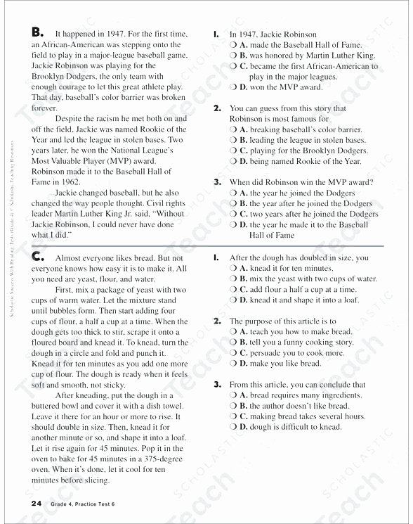 Printable First Grade Reading Worksheets Free Printable 4th Grade Reading Worksheets