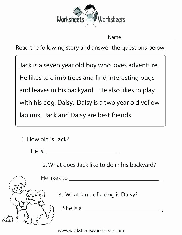 Printable First Grade Reading Worksheets Free Reading Worksheets for 1st Grade
