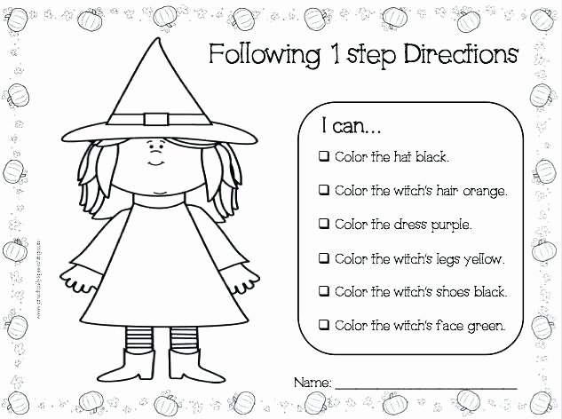 Printable Following Directions Worksheet Follow Direction Worksheets Last Multi Step Directions Following