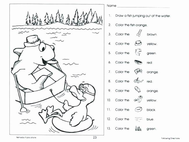 Printable Following Directions Worksheet Free Following Directions Worksheets